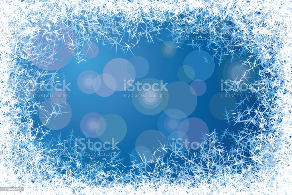 Frost frame vector art illustration