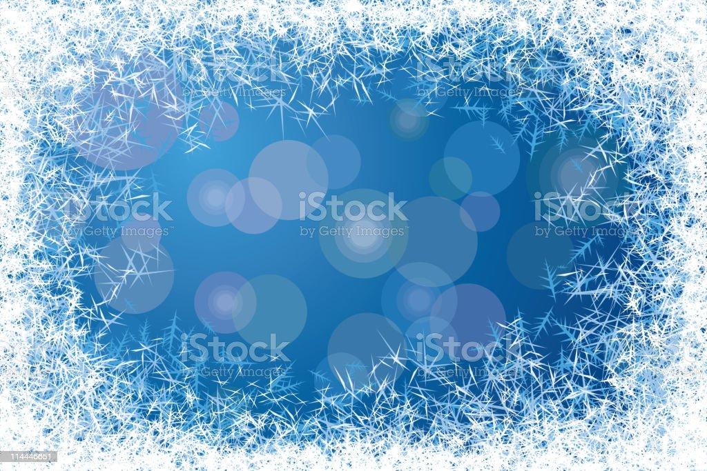 Frost frame vector art illustration