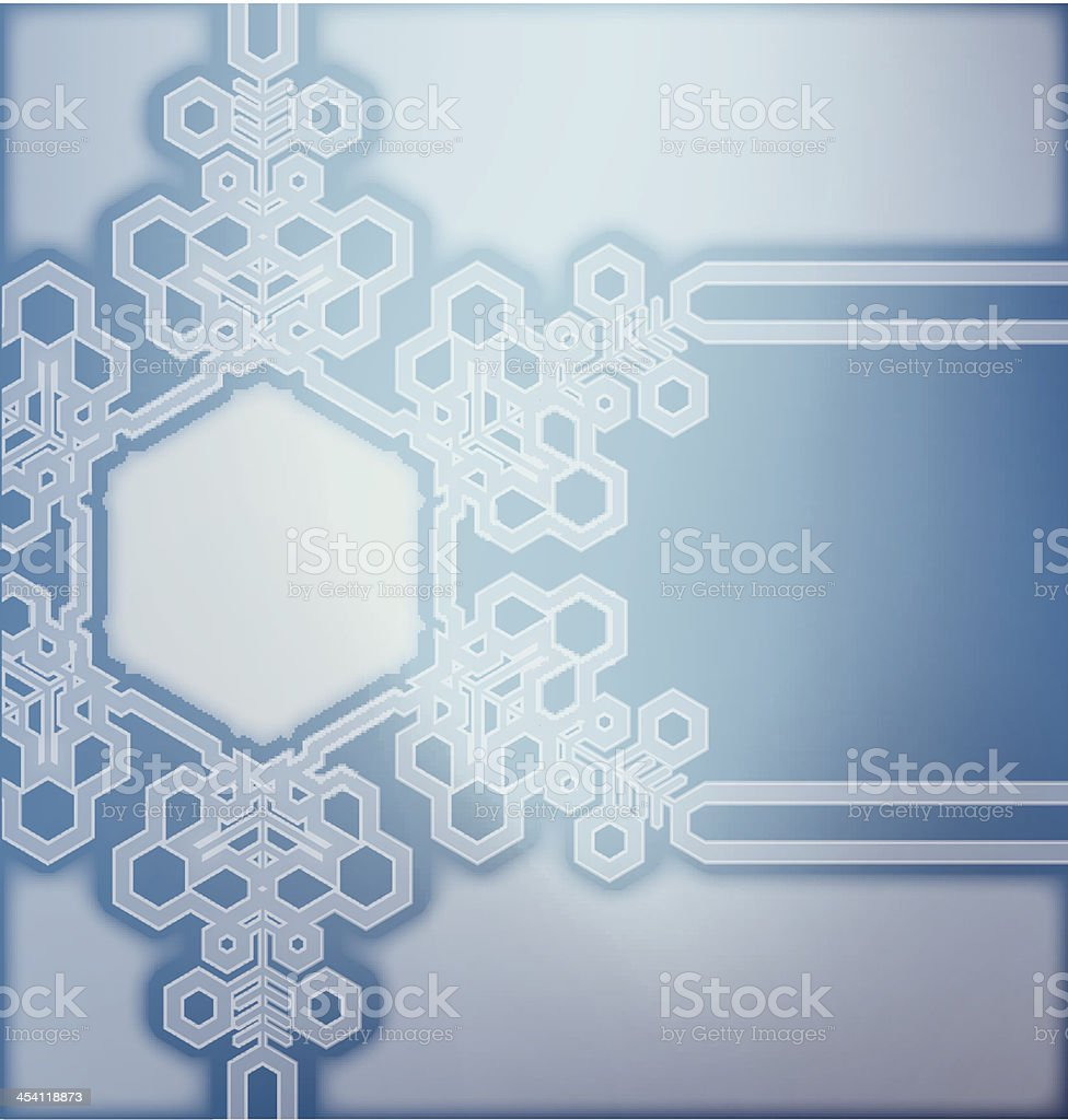 Frosted glass background with snowflakes royalty-free stock vector art