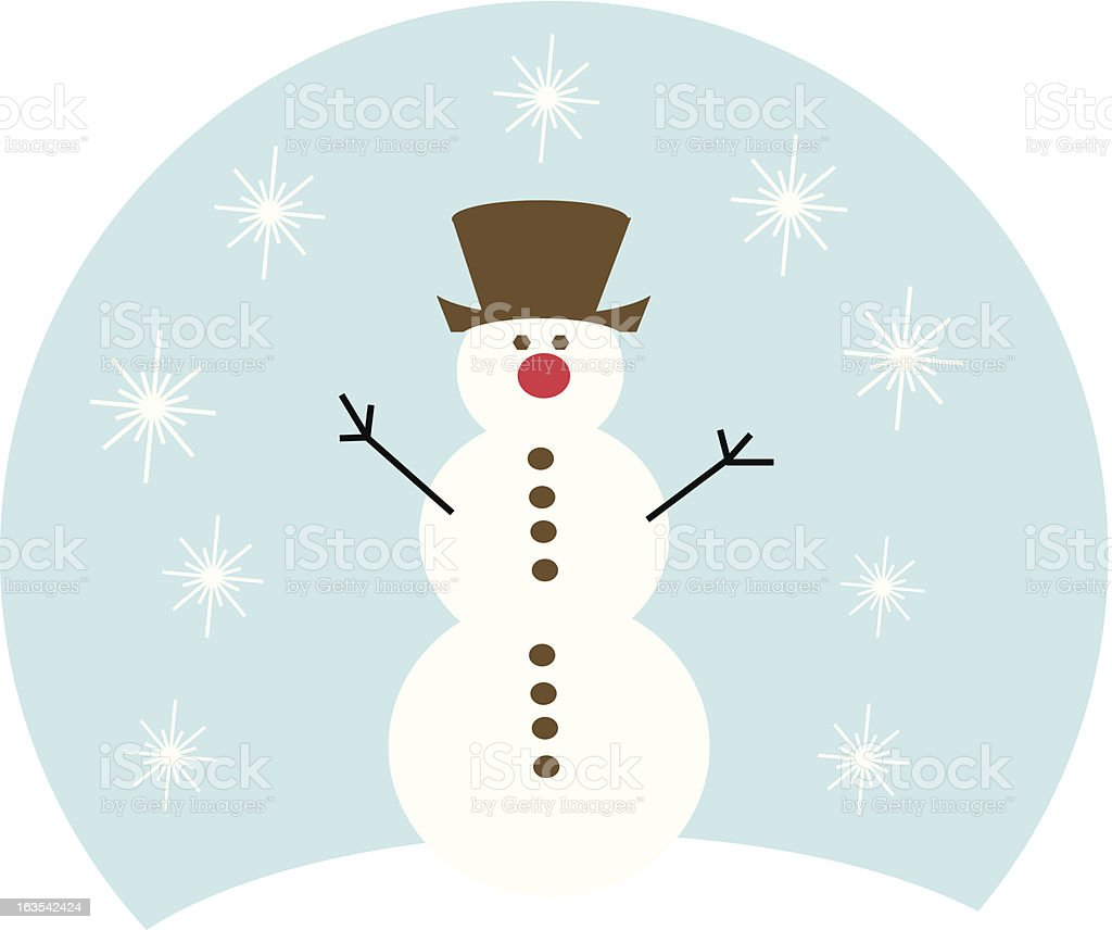 Frosty in the snow royalty-free stock vector art