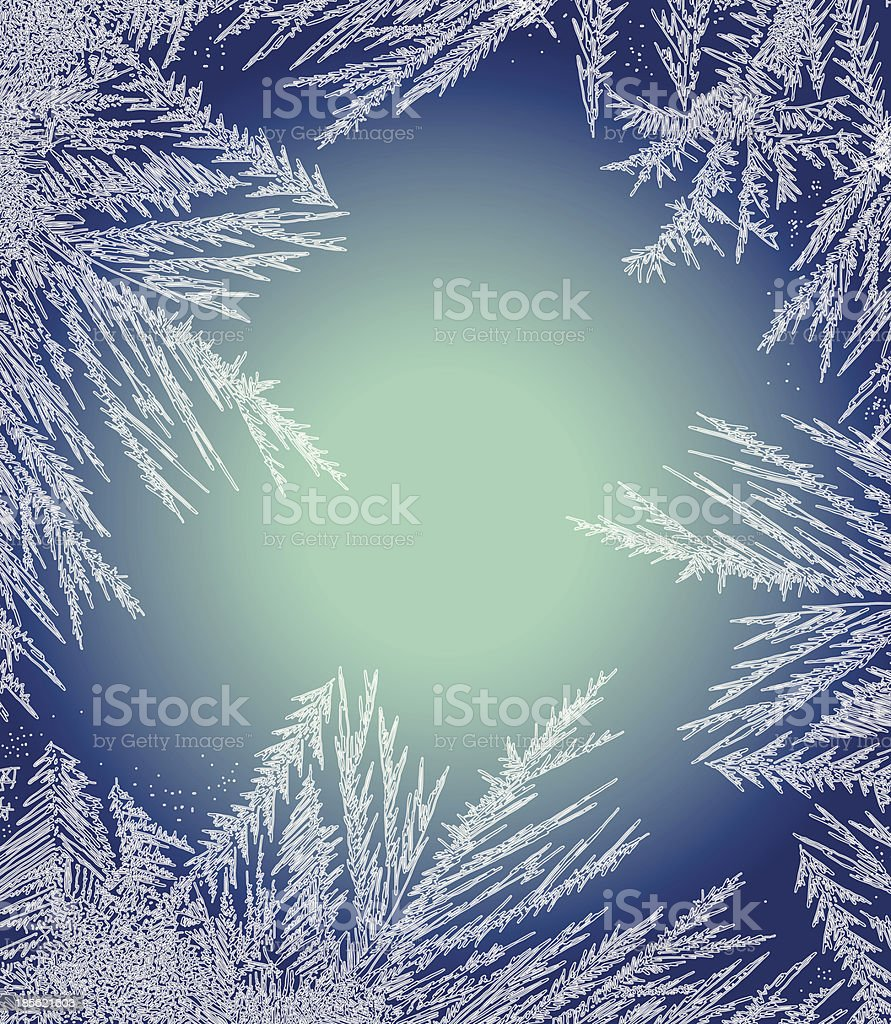 Frosty Pattern Frame. vector art illustration