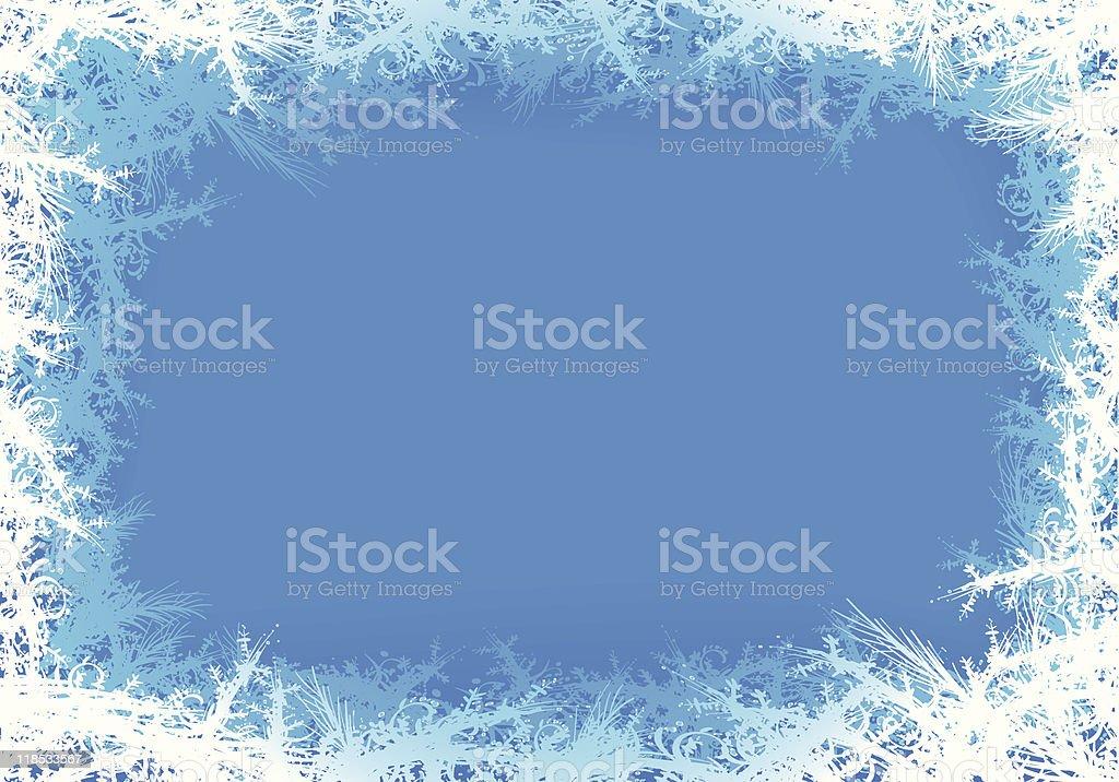 frozen background vector art illustration