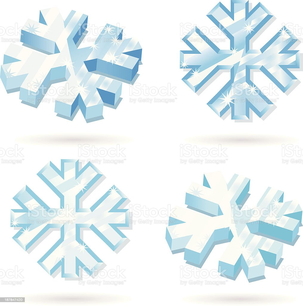 frozen Icecrystall. royalty-free stock vector art