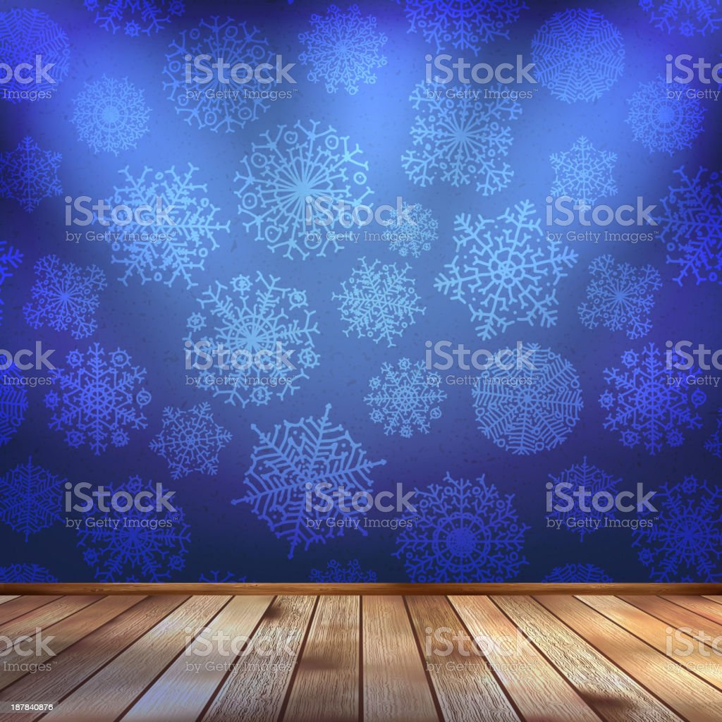 Frozen interior, christmas background. EPS 10 royalty-free stock vector art