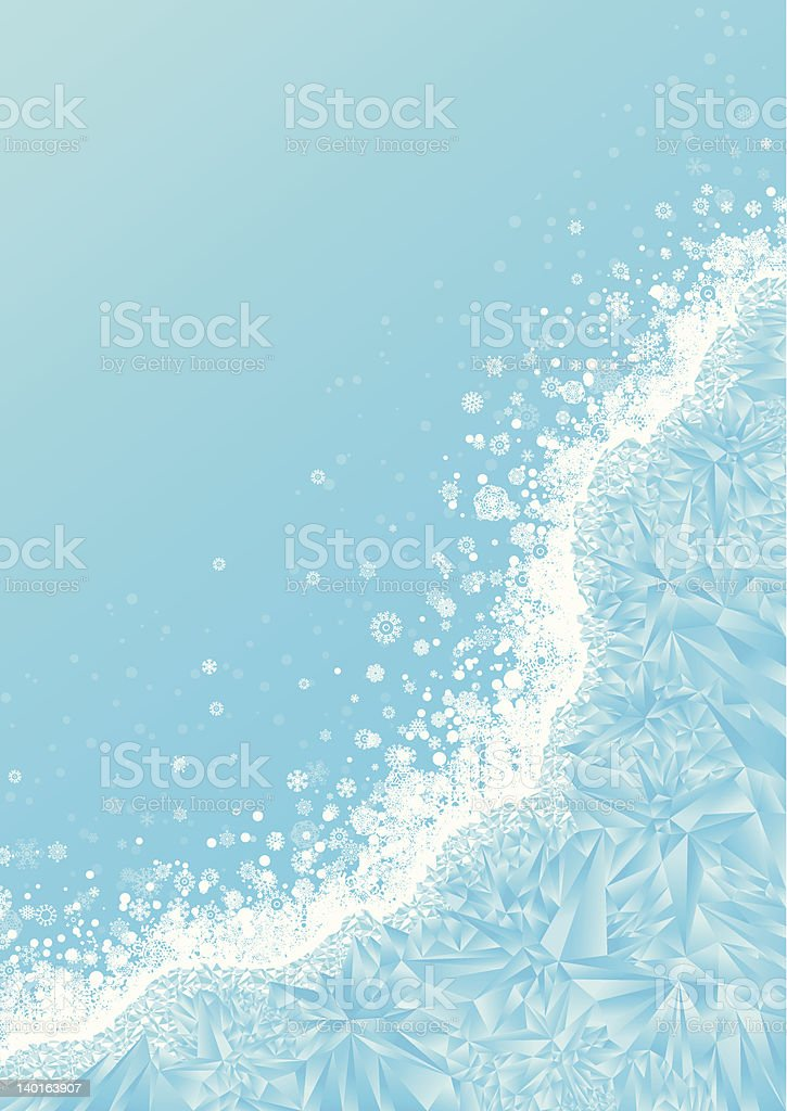 Frozen Window vector art illustration