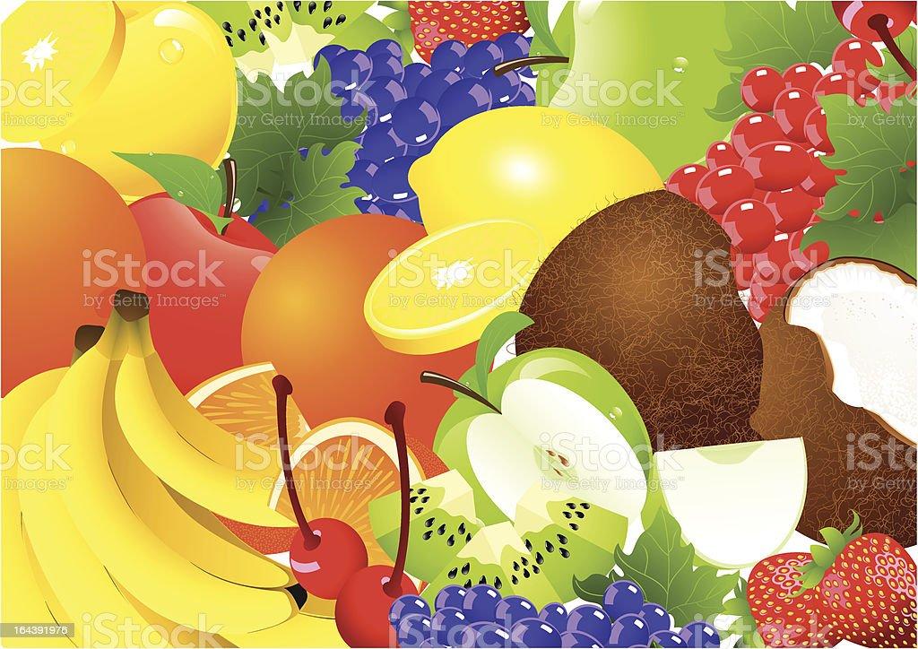 Fruit abundance royalty-free stock vector art