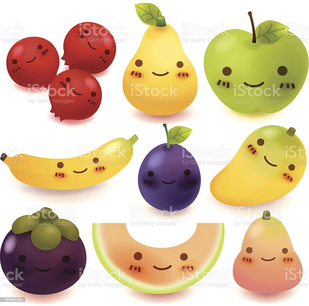 Fruit and vegetable Collection royalty-free stock vector art