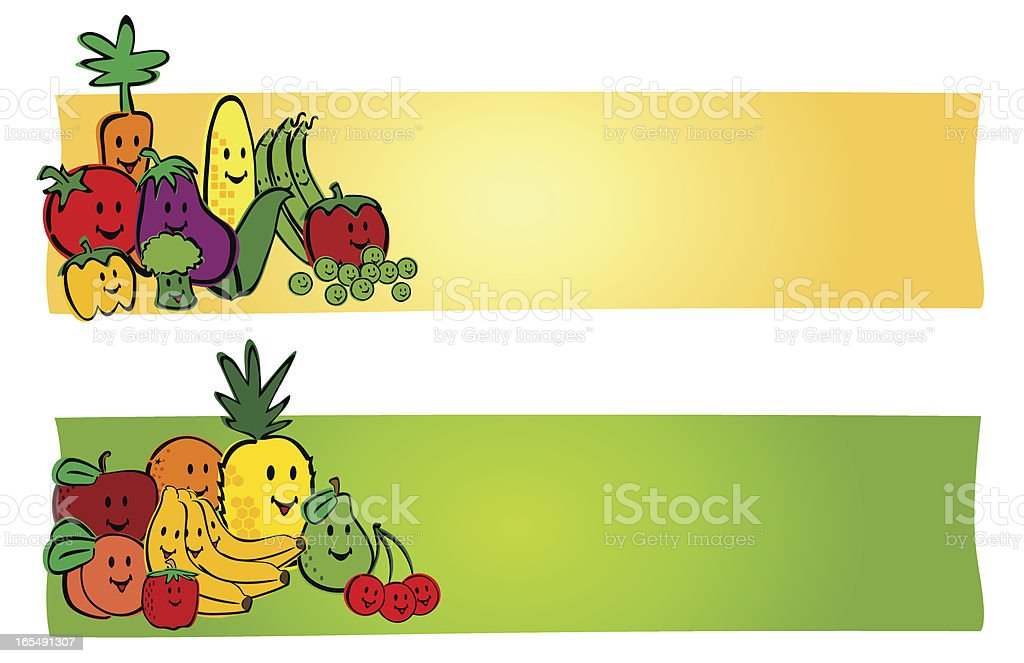 Fruit and Vegetable Labels royalty-free stock vector art