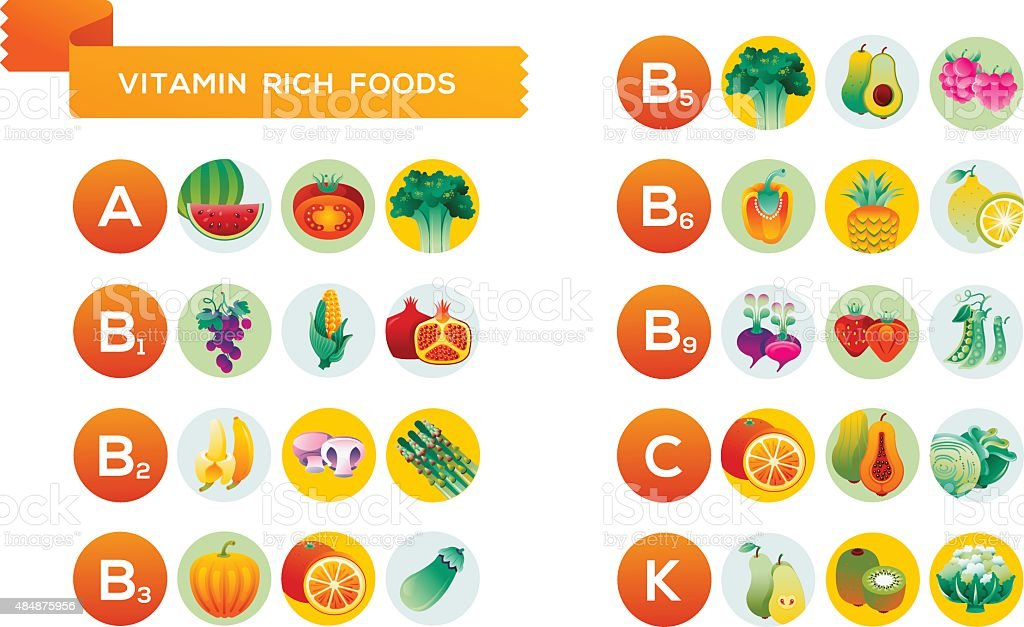 Fruit and vegetables Infographic vector art illustration