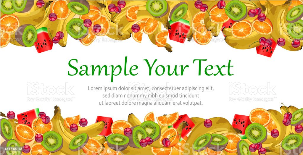 Fruit background royalty-free stock vector art