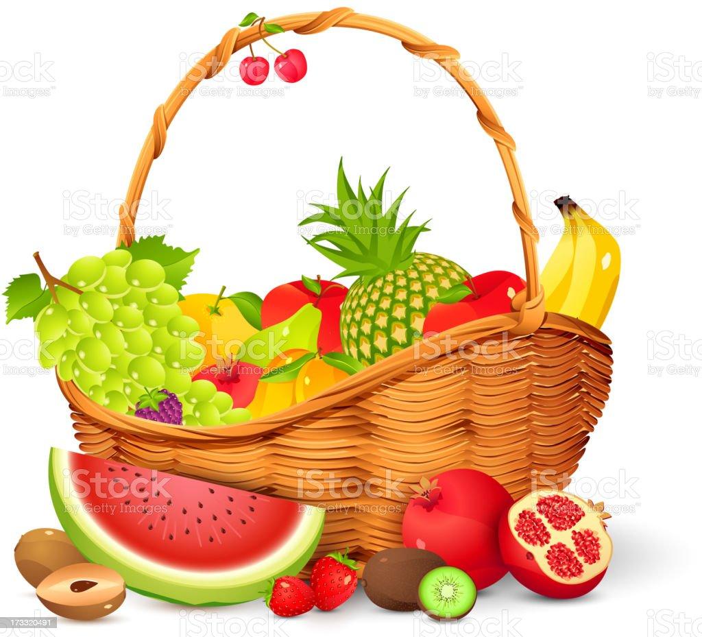 Fruit Basket royalty-free stock vector art