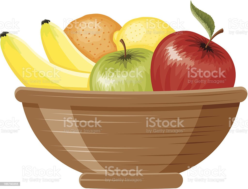Fruit Bowl vector art illustration