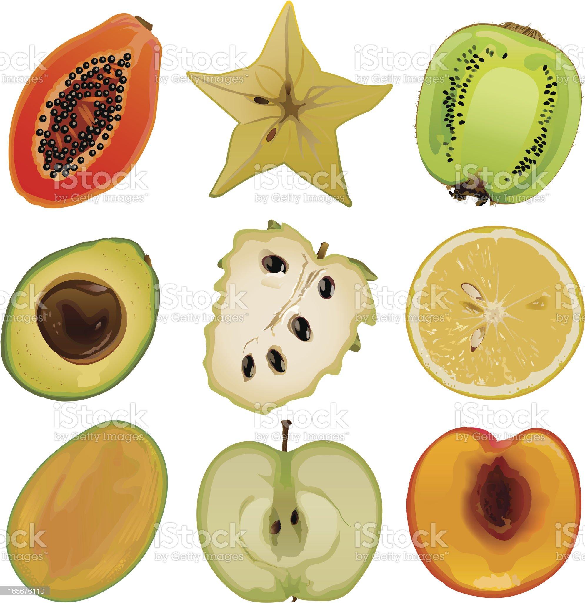 Fruit core1 royalty-free stock vector art