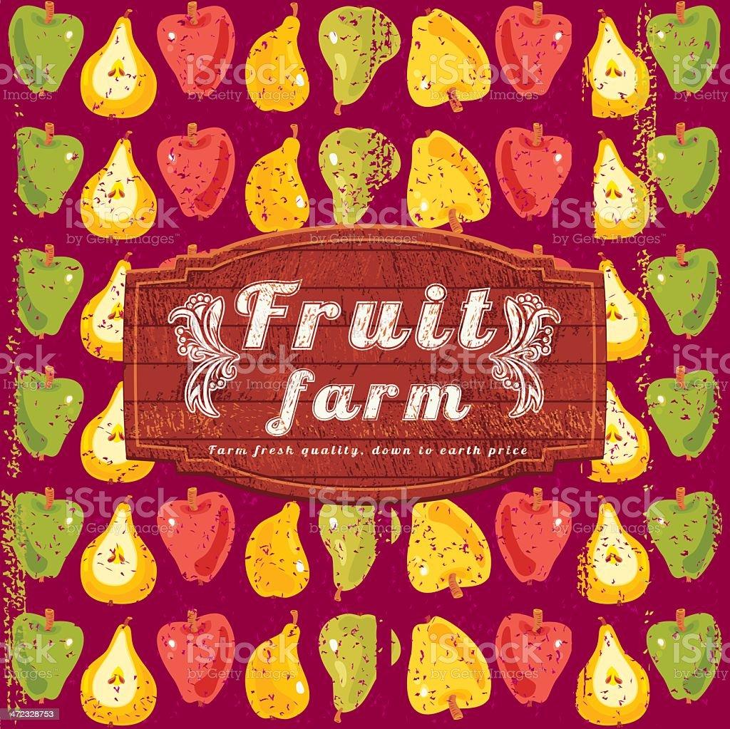 Fruit Farm Sign royalty-free stock vector art