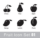 Fruit flat icon design