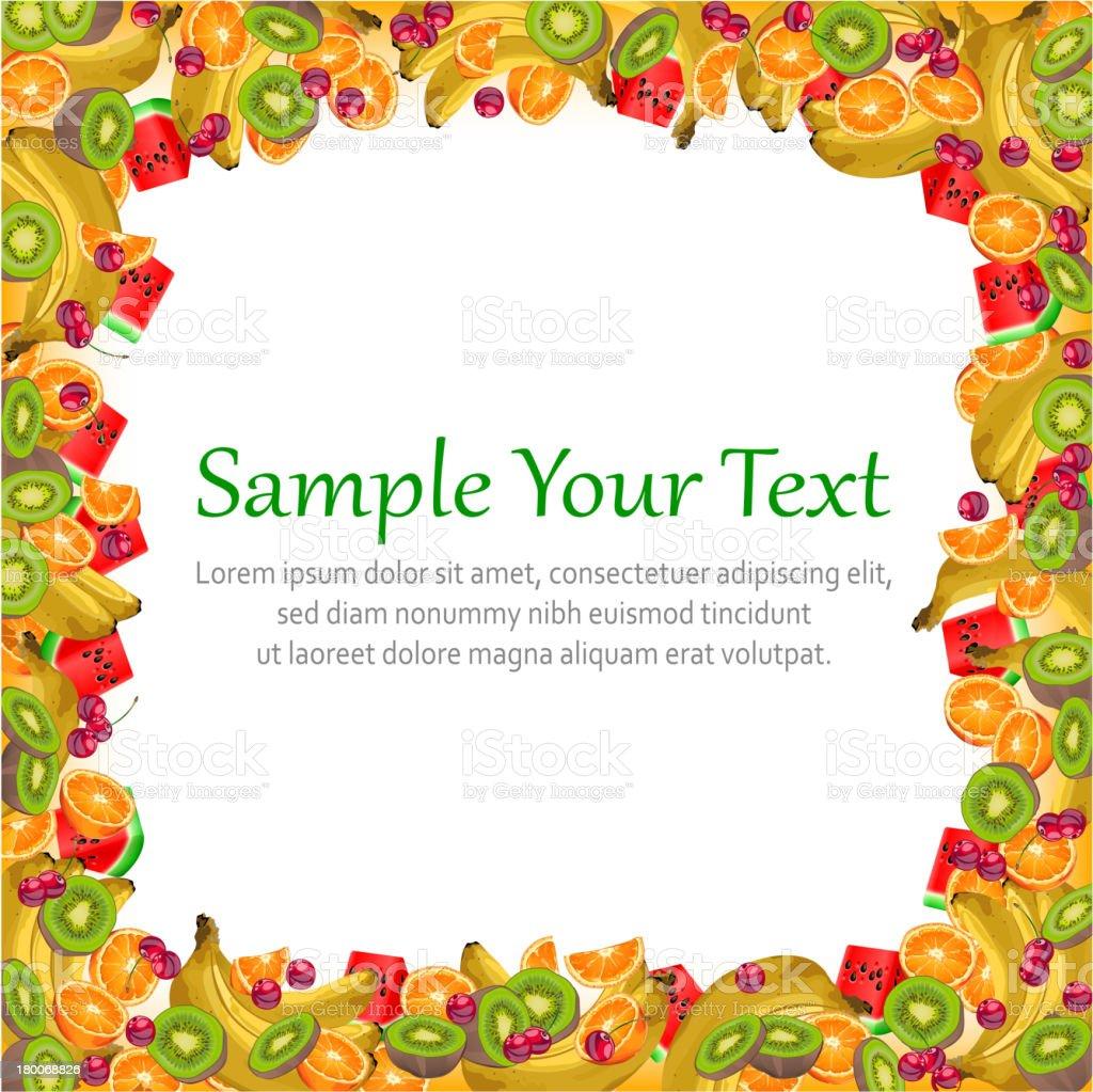 Fruit frame royalty-free stock vector art