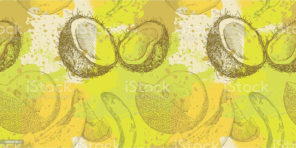 Fruit Grunge Design royalty-free stock vector art