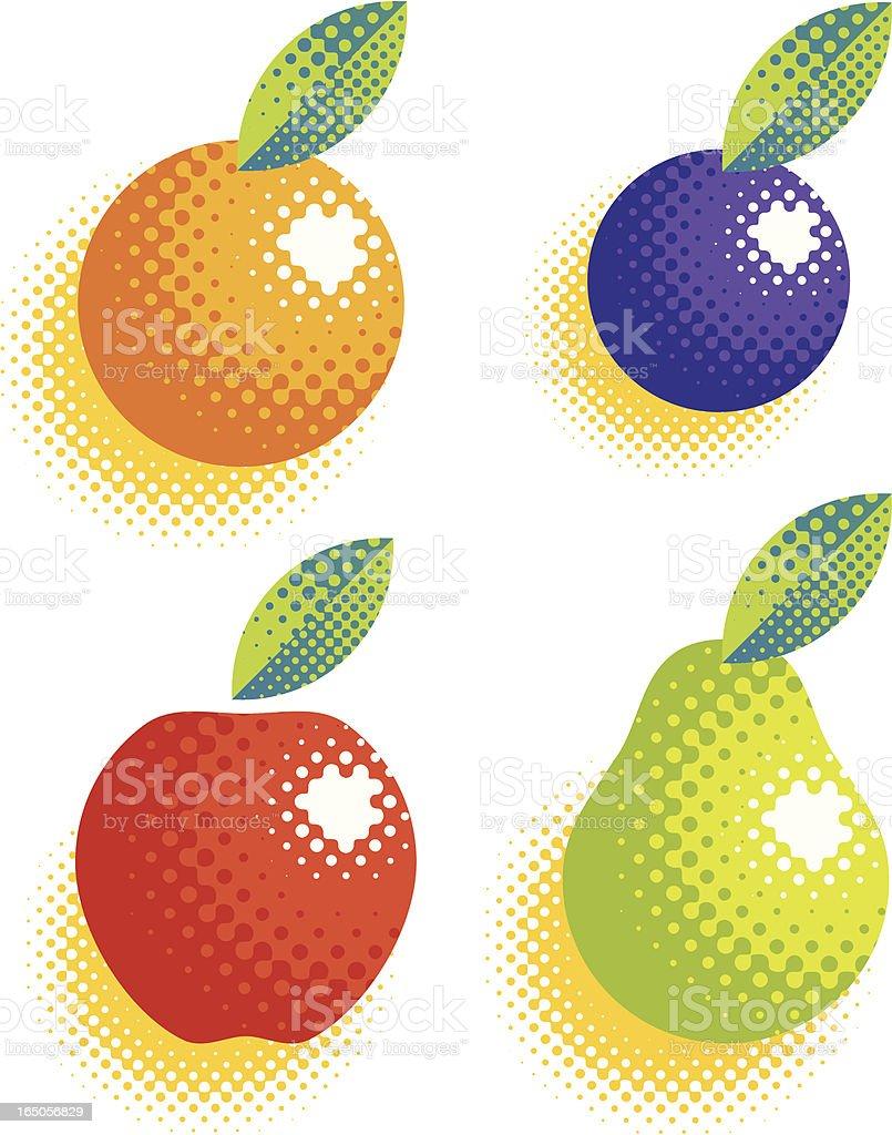 fruit halftone royalty-free stock vector art