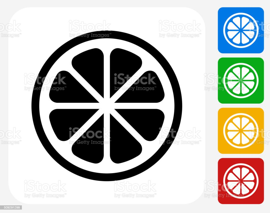 Fruit Icon Flat Graphic Design vector art illustration