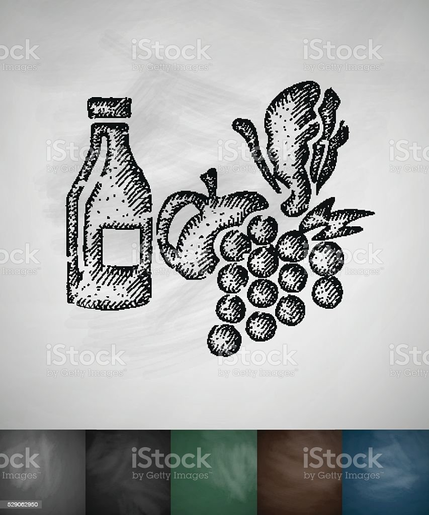fruit icon. Hand drawn vector illustration vector art illustration