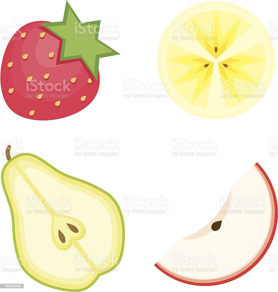 Fruit Icon Set royalty-free stock vector art