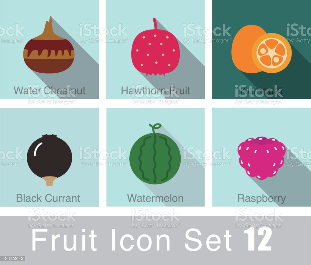 fruit icon set, vector vector art illustration