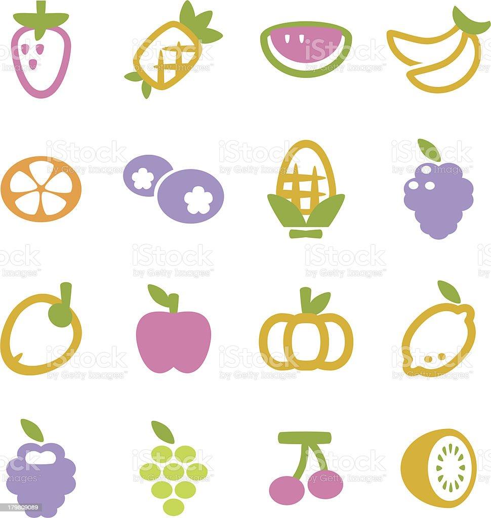 Fruit Icon royalty-free stock vector art