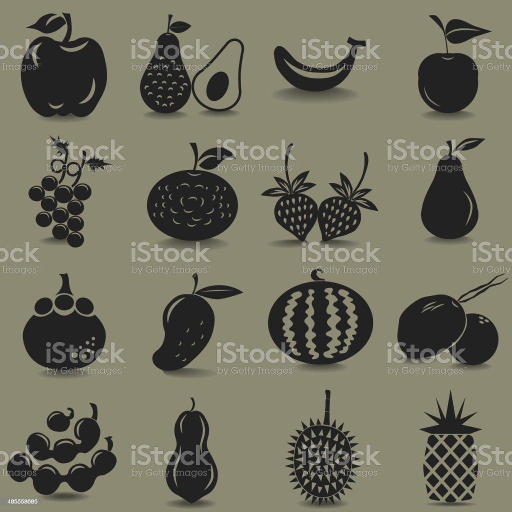 Fruit Icon vector art illustration