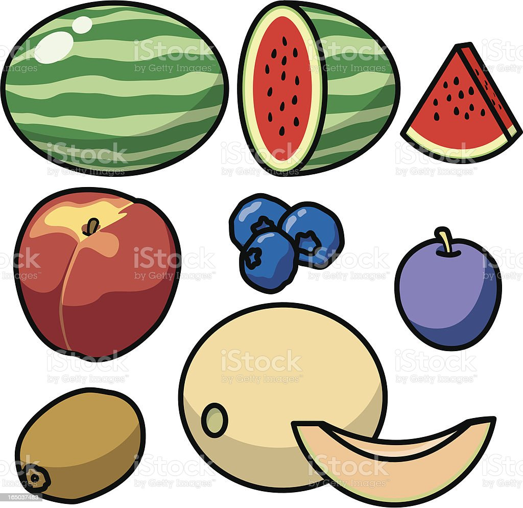 Fruit Icons 2 (vector) royalty-free stock vector art