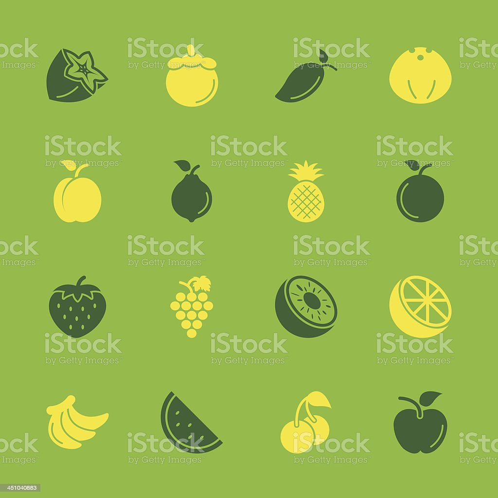 Fruit Icons - Color Series | EPS10 royalty-free stock vector art