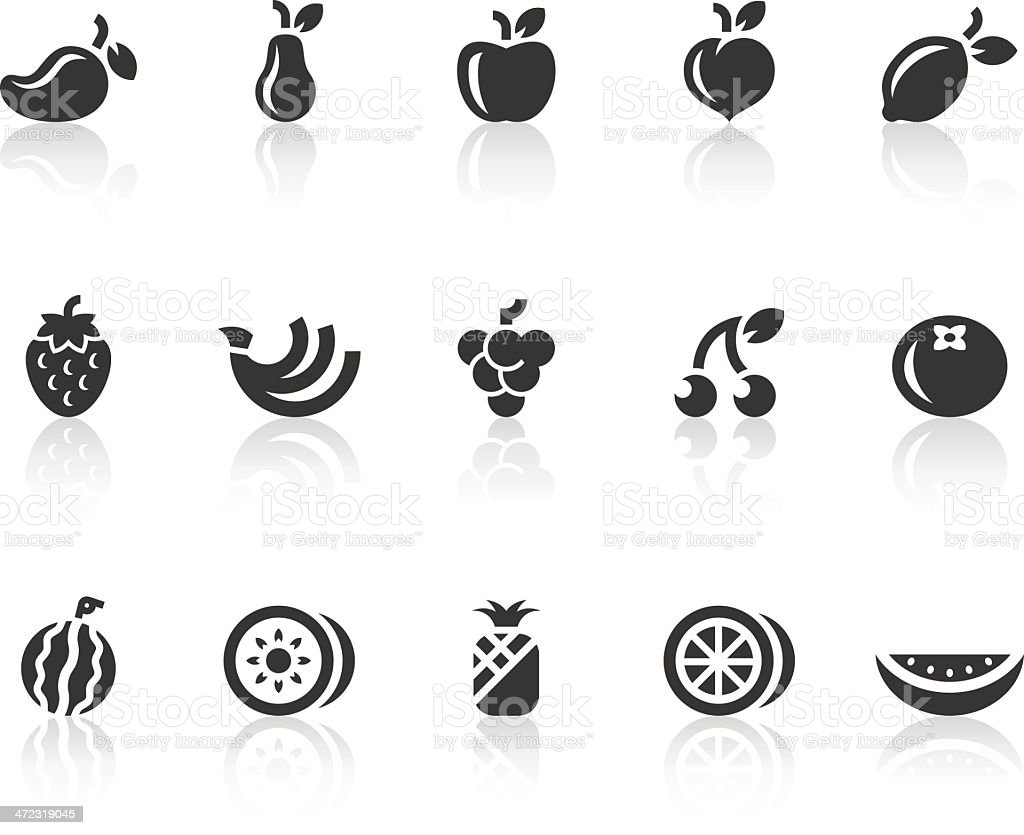 Fruit Icons | Simple Black Series vector art illustration