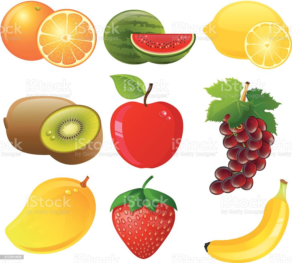 Fruit Icons royalty-free stock vector art