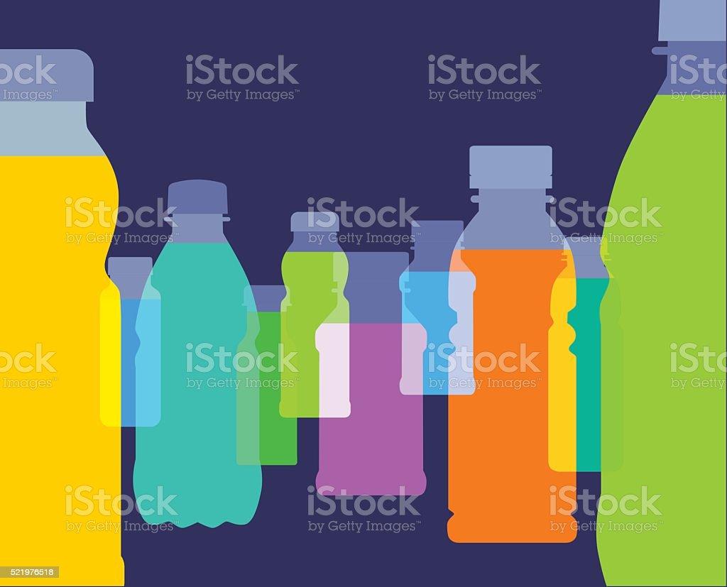 Fruit Juice bottles vector art illustration