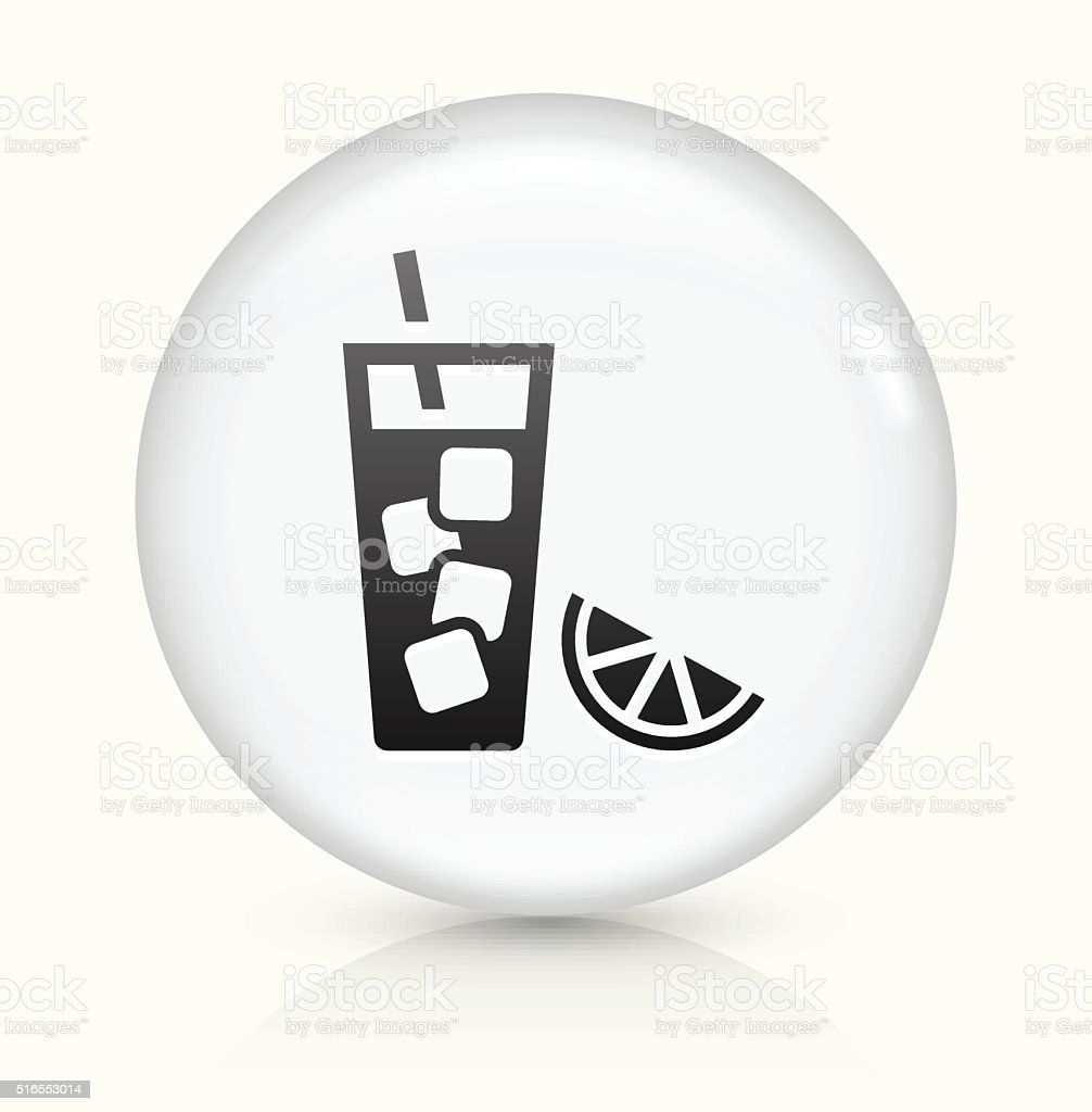 Fruit Juice icon on white round vector button vector art illustration