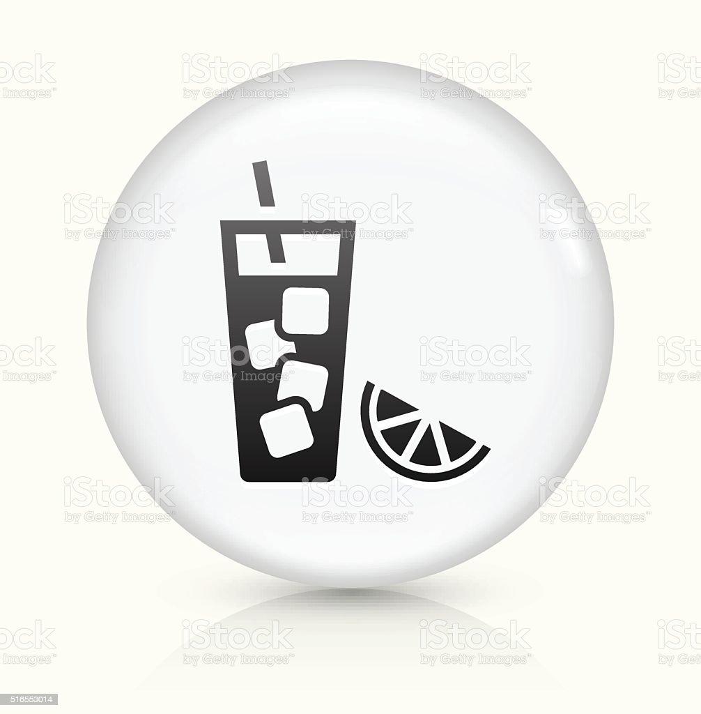 Fruit Juice icon on white round vector button vector art illustration