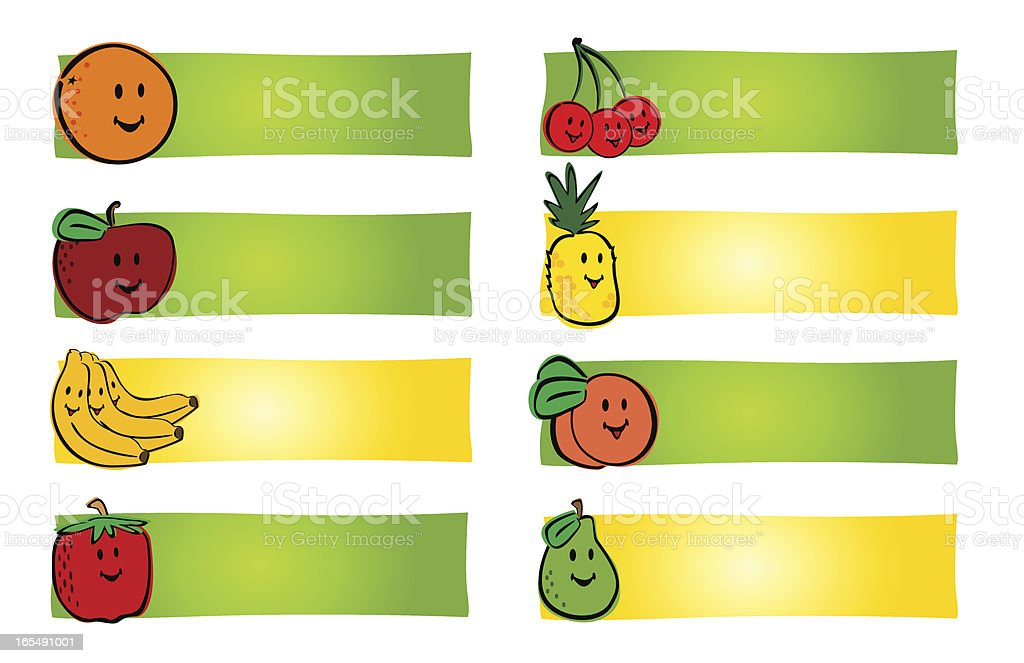 Fruit Labels royalty-free stock vector art