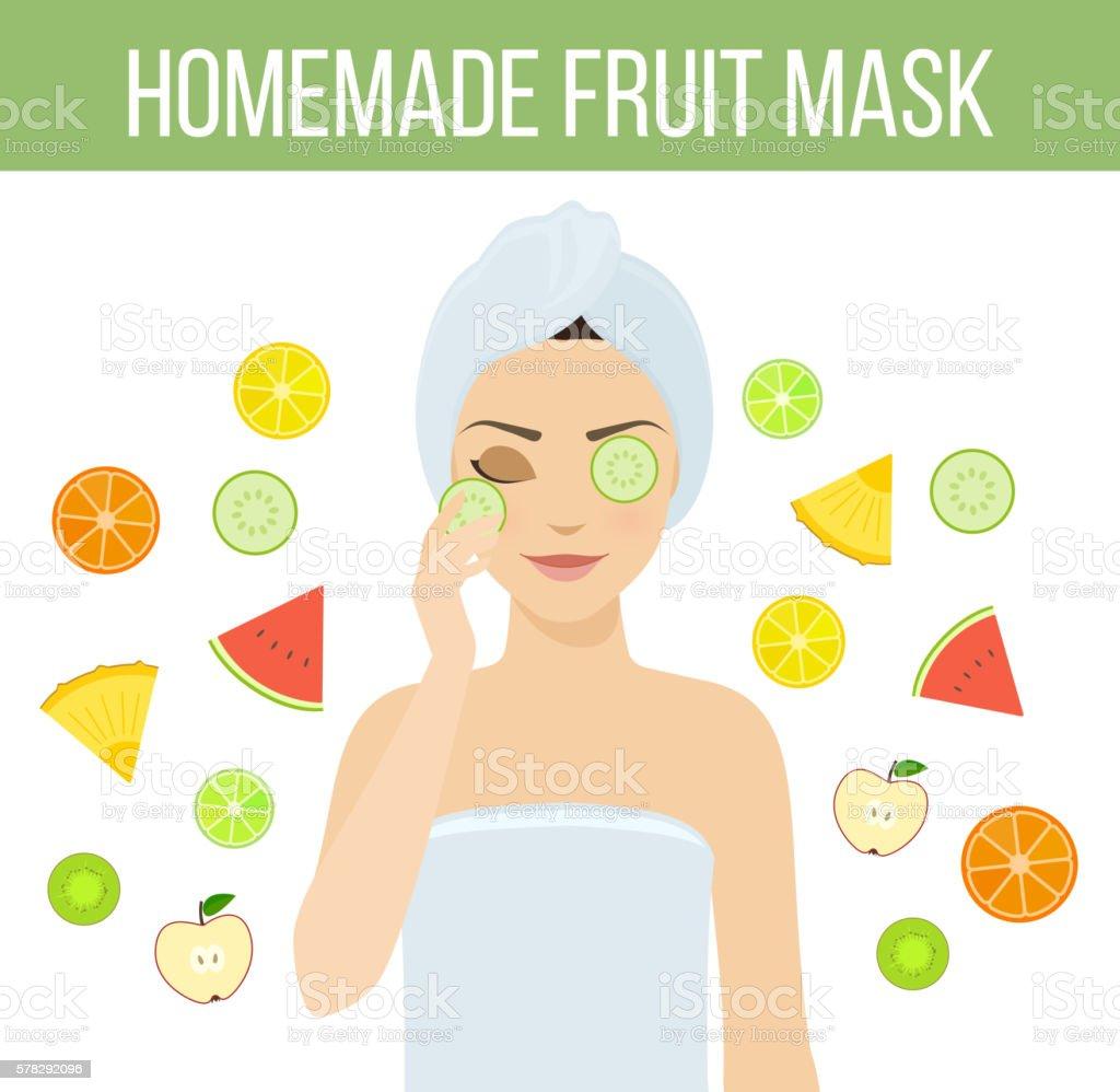Fruit mask vector art illustration