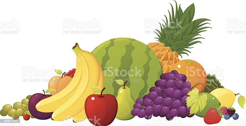 Fruit Pile royalty-free stock vector art