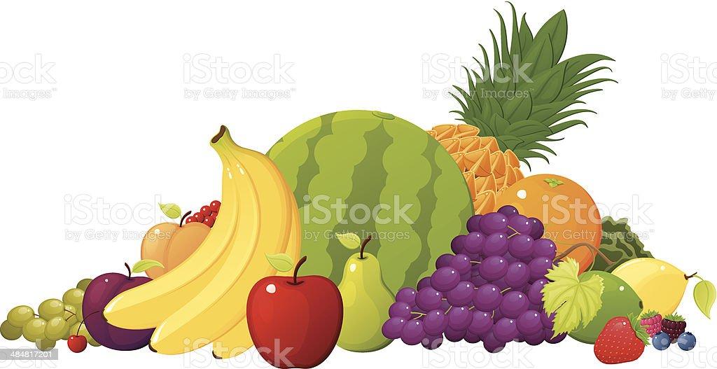 Fruit Pile vector art illustration