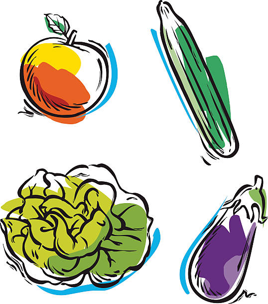 Salad Clip Art, Vector Images & Illustrations - iStock