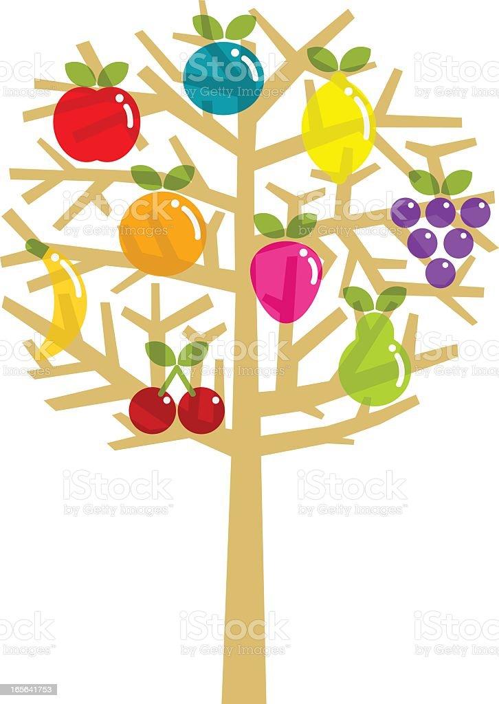 Fruit tree royalty-free stock vector art