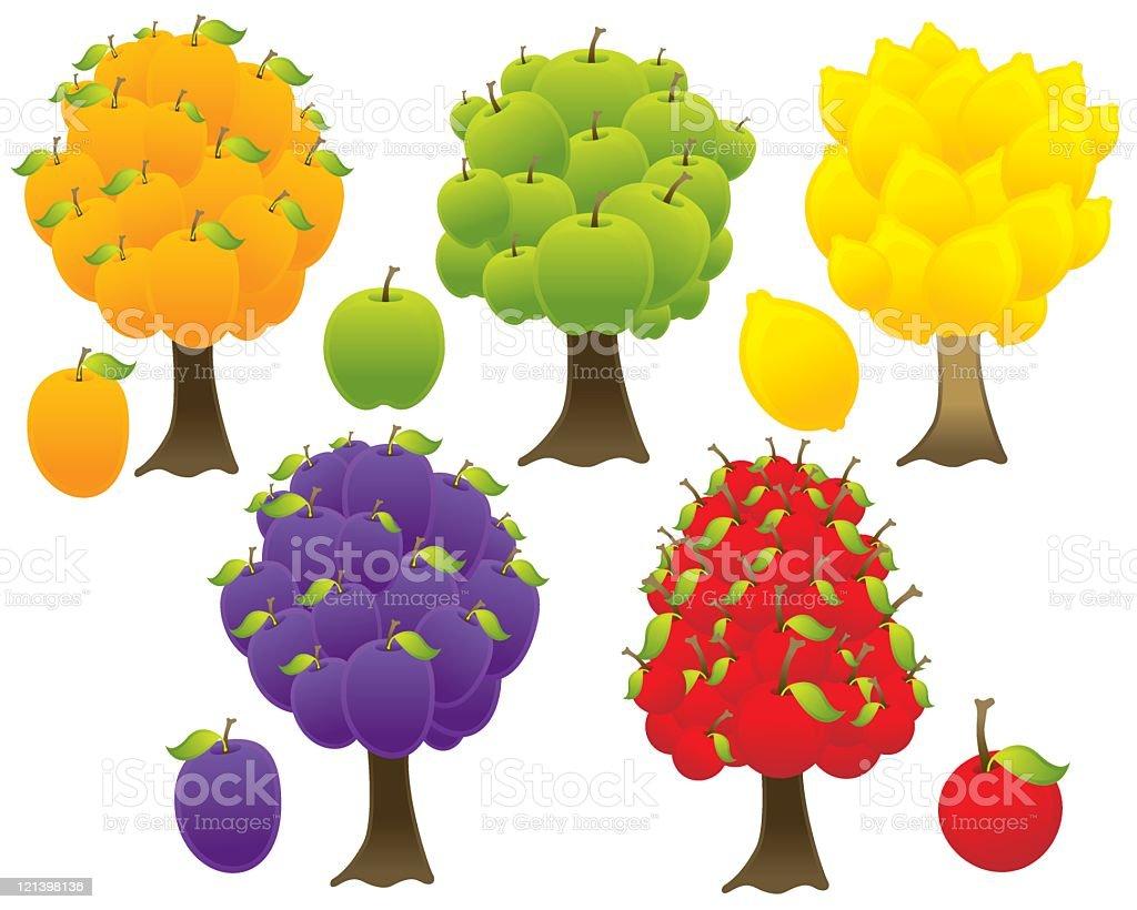 Fruit Trees royalty-free stock vector art