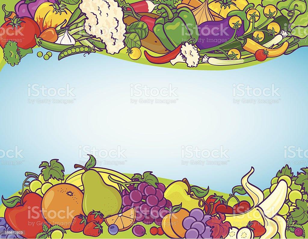 Fruit veggie background royalty-free stock vector art