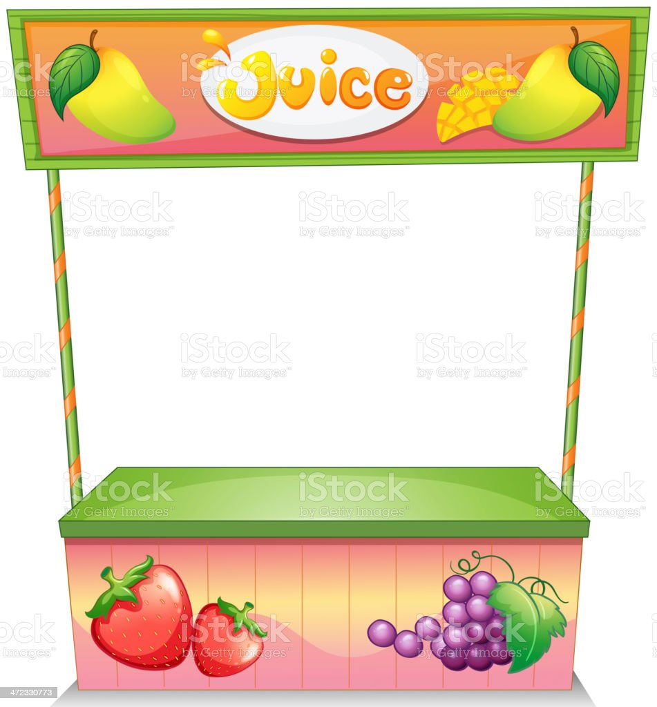 Fruit vendor stall royalty-free stock vector art