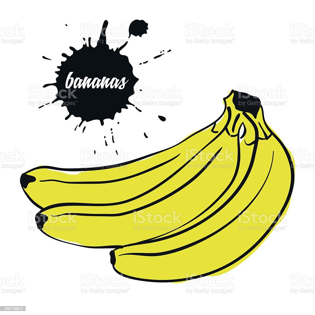fruit yellow bananas stock vecteur libres de droits libre de droits
