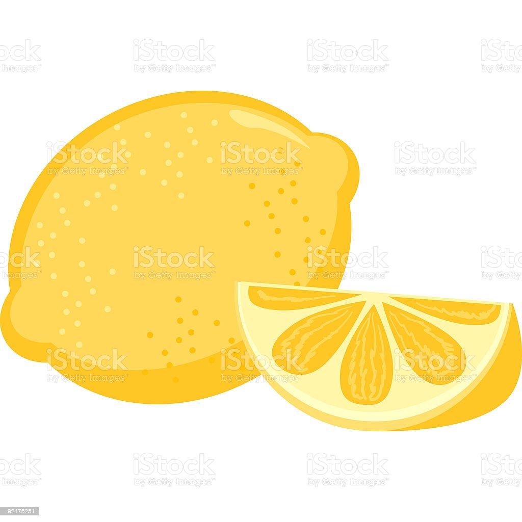 Fruit-Lemon royalty-free stock vector art