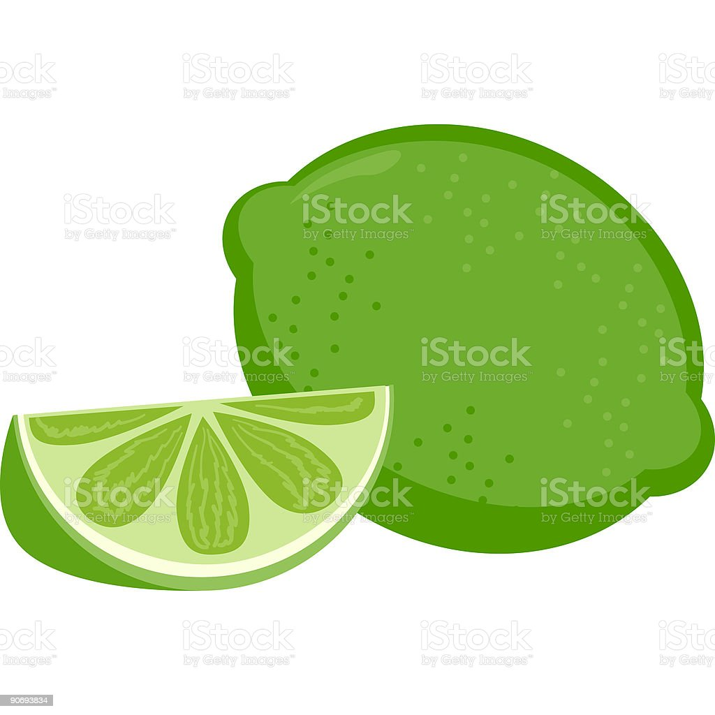 Fruit-Lime royalty-free stock vector art