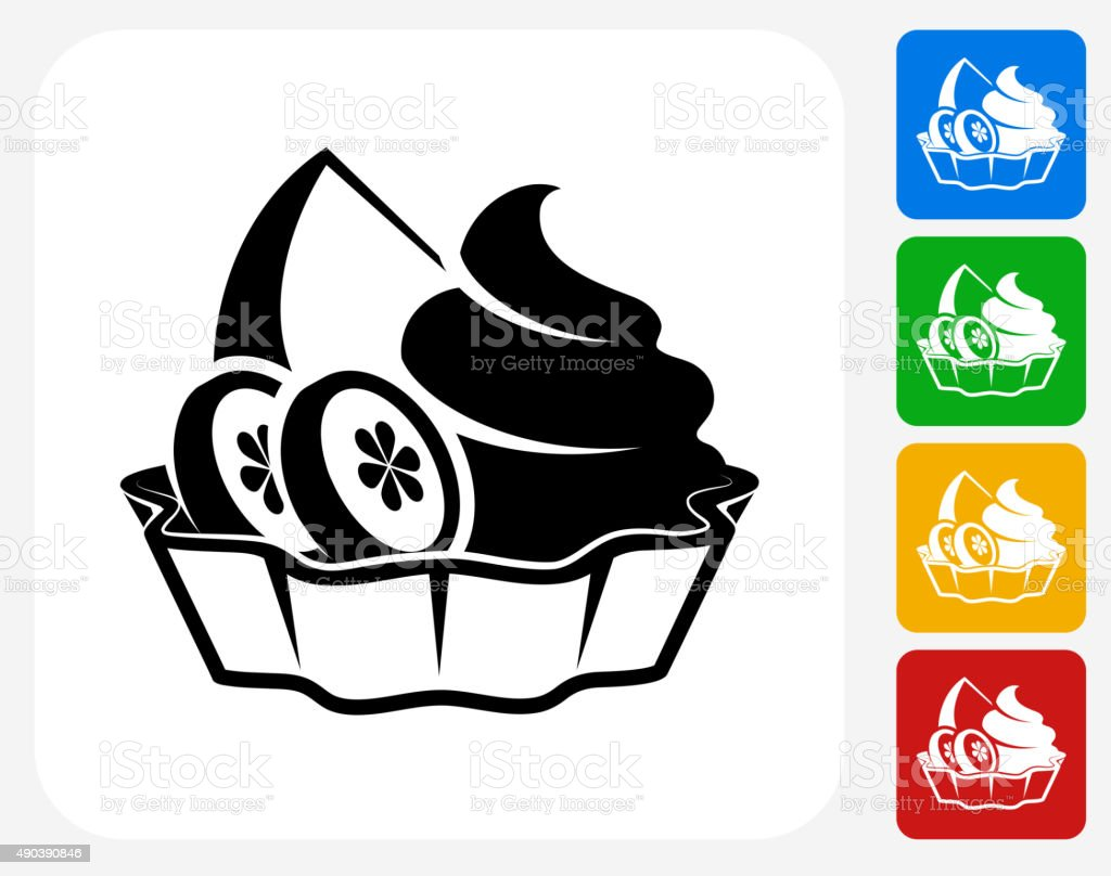 Fruits and Desserts Icon Flat Graphic Design vector art illustration