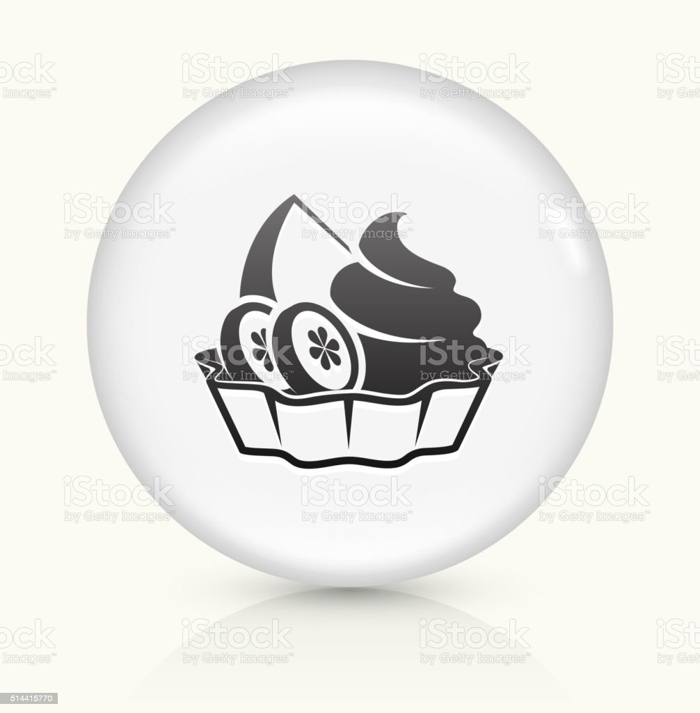 Fruits and Desserts icon on white round vector button vector art illustration