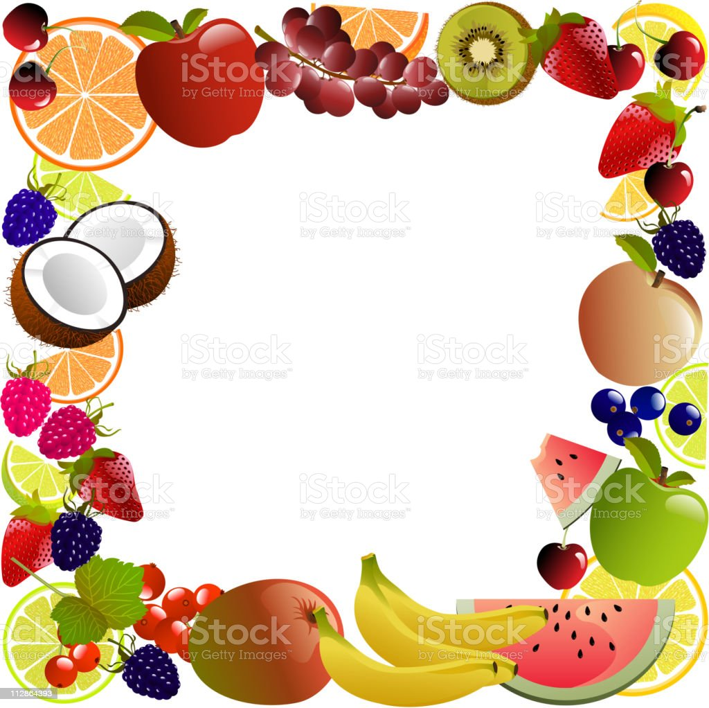Fruits and Flavor Banner royalty-free stock vector art